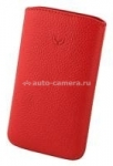 Кожаный чехол для HTC Desire HD BeyzaCases Retro Super Slim Strap, цвет flo red (BZ19809)