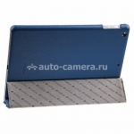 Кожаный чехол для iPad Air Melkco Leather Case Slimme Cover Ver.1, цвет Blue LC