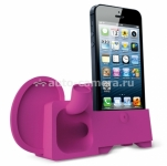 Подставка для iPhone 5 / 5S Ozaki O!music Zoo Elephant B, цвет Dark Pink (OM936EB)