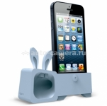 Подставка для iPhone 5 / 5S Ozaki O!music Zoo Rabbit A, цвет Blue (OM936RA)